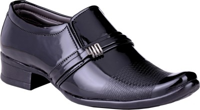 Shoe Day Shoe Day Patent Monk Strap Shoes For Men(Black)