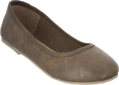 Advin England Genuine Leather Brown Belly Slip On For Women(Brown)