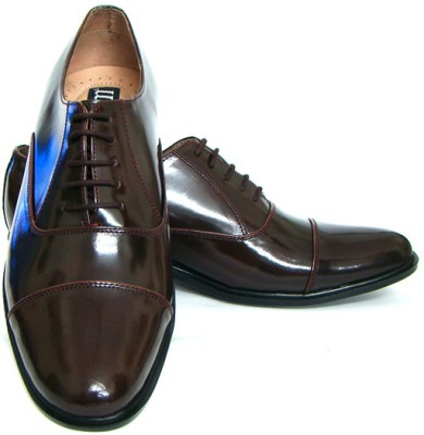 ASM Genuine Leather Oxford Lace Up Shoes(Maroon)