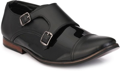 zeboot patent formal partywear Monk Strap For Men(Black)