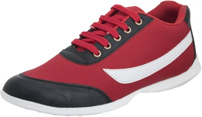 Advin England Red Black Star Canvas Shoes For Women(Red, Black)