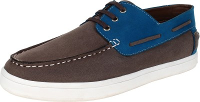 Tufli Driving Shoes For Men(Grey, Blue)