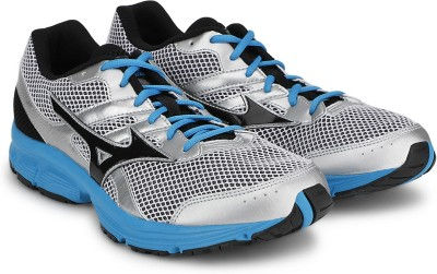 Mizuno Spark Running Shoes For Men(Silver, Blue, Black)  available at flipkart for Rs.1799