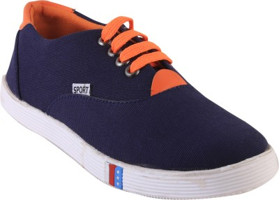 GI Navy Blue canvas shoes Lace Up For Men(Navy)
