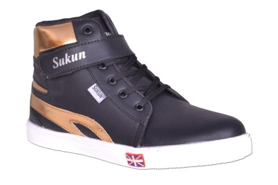 Sukun Supra Sneakers, Casuals, Party Wear, Dancing Shoes, Boots, Outdoors(Black)