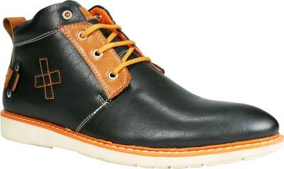Bacca Bucci 960 Boots(Black, Tan) at flipkart