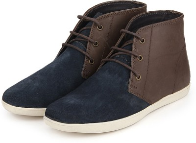 Arden Devon Two Tone Chukka Boots For Men(Blue)