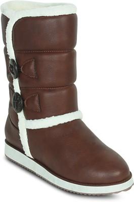 Get Glamr Designer Uggy Boots(Brown) at flipkart