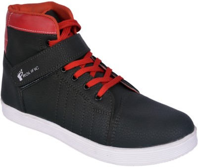 Prolific Italian Monk Style Sneakers For Men(Red, Black)