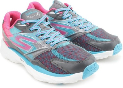 Skechers GO RUN RIDE 4 Running Shoes(Brown, Blue) at flipkart