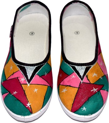 Sona Mona Creations Hand Painted Bellies For Women(Multicolor) at flipkart