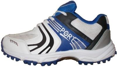 Port T-20 Cricket Shoes For Men(White)