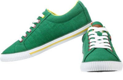 Sparx Stylish Green & Yellow Canvas Shoes For Men(Green)