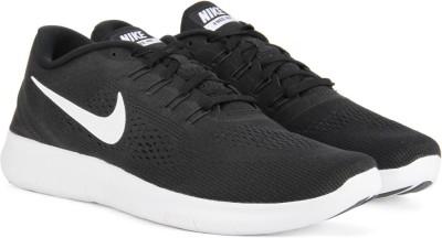 Nike FREE RN Running Shoes For Men(Black, White) 1