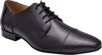 Hirel's Men Black Oxford Lace Up Shoes(Black) at flipkart