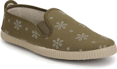 Scentra MARRAKESH Loafers For Women(Olive)