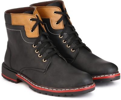 3f625b9f64dc 65% OFF on Knoos Long Boots Boots For Men(Black) on Flipkart ...
