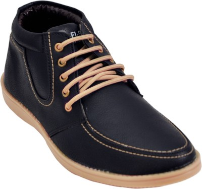 Adjoin Steps Lace Up Casual Shoe(Black)