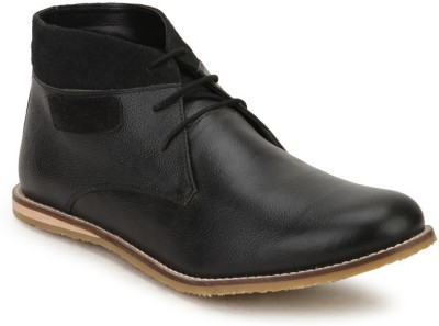 Arden Dobby Chukka Casual Shoes For Men(Black)