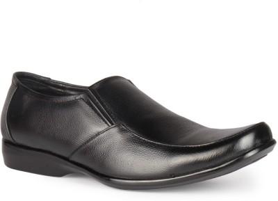 Leather King Martin Black Slip On For Men(Black)
