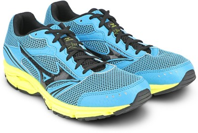 Mizuno Wave Impetus 3 (W) Running Shoes(Blue, Black, Yellow) at flipkart