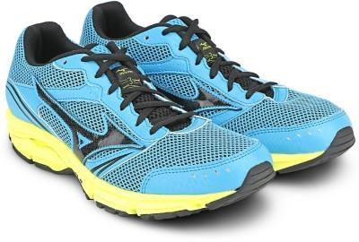 Mizuno Wave Impetus 3 (W) Running Shoes(Blue, Black, Yellow) at flipkart