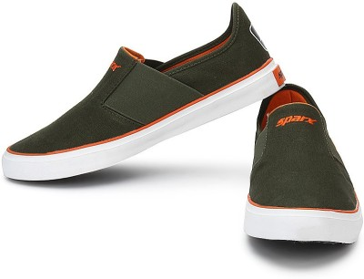 Sparx SM-214 Casual Shoes For Men(Orange, Olive) at flipkart