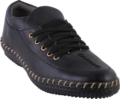 GI Designed canvas shoes Lace Up For Men(Black)