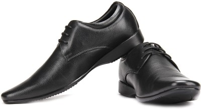 Franco Leone Lace Up Shoes For Men(Black)