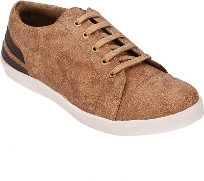 Shoe Smith SS1098 Casuals For Men(Tan) at flipkart