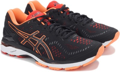 Asics GEL-KAYANO 23 Sports Shoe(Black) at flipkart