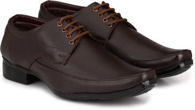 Knoos Classy Lace Up Formal Shoes Derby For Men Brown Knoos Formal Shoes