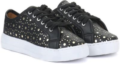 QUPID Sneakers(Black) at flipkart