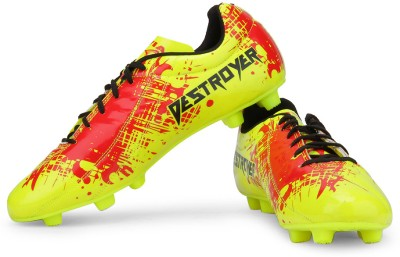 NIVIA Destroyer Spain Football Studs For Men Red, Yellow NIVIA Sports Shoes