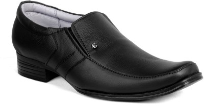 Candle Gold Geniune Leather Slip On Shoe For Men(Black)