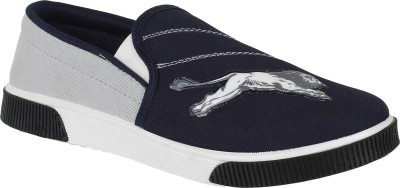 Oricum Loafer-1310 Canvas Shoes For Men(Blue)  available at flipkart for Rs.248