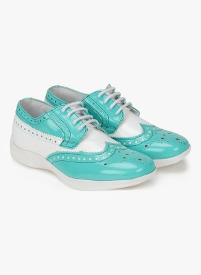 Knotty Derby Susan Brogue Derby Casuals For Women(Blue, White)