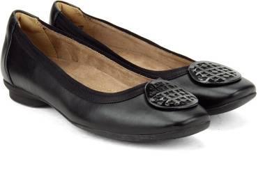Clarks Candra Blush Black Leather Slip on