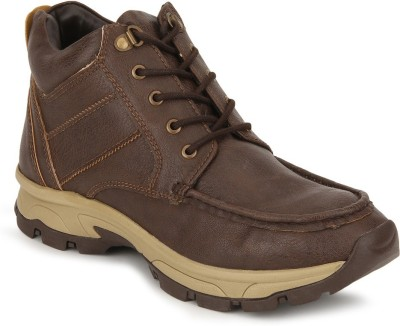 Knotty Derby Michael Side Stitch Chukka Boots For Men(Brown)