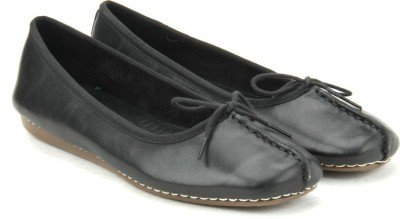 Clarks Freckle Ice Black Leather Bellies(Black) at flipkart