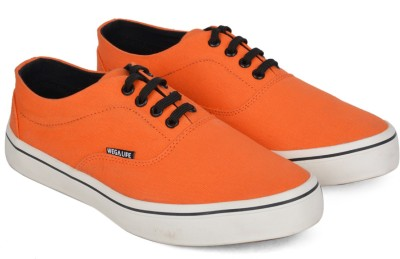 Wega Life ASTER Sneakers(Orange, Black) at flipkart