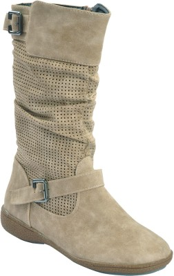 Shuberry Boots(Beige) at flipkart
