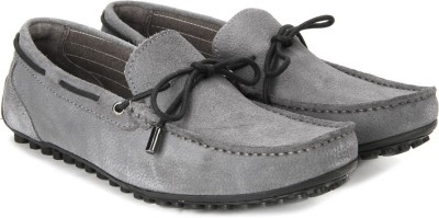 WROGN Genuine Leather Loafers(Grey) at flipkart