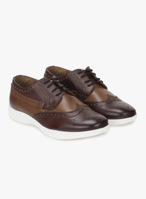 Knotty Derby Susan Brogue Derby Casuals For Women(Brown, Khaki)