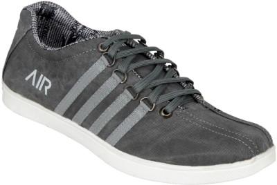 Ztoez Grey Canvas Shoes For Men(Grey)