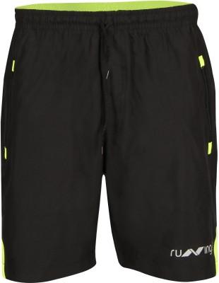 Nivia Solid Men Black Running Shorts
