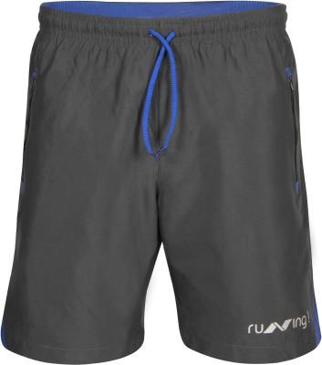 NIVIA Solid Men Grey Running Shorts