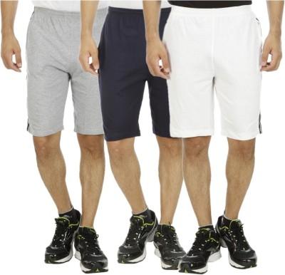Kritika's World Solid Men's Light Green Sports Shorts