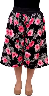 V3ishop Floral Print Women Pink Culotte Shorts
