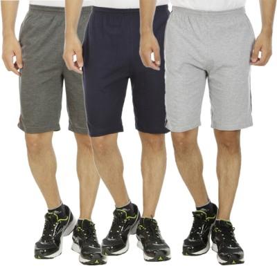 Kritika's World Solid Men's Multicolor Sports Shorts